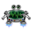 128x128px size png icon of robot screen settings