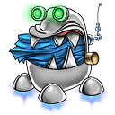 128x128px size png icon of robot trash full