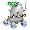 128x128px size png icon of robot trash