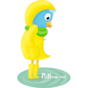 Fall raincoat follow me Icon