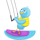 128x128px size png icon of Summer waterskiing