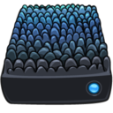 128x128px size png icon of Scaley Blue Drive