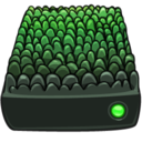 128x128px size png icon of Scaley Green Drive