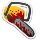 128x128px size png icon of Bloody Chainsaw