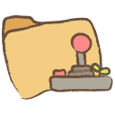 128x128px size png icon of folder games