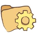 128x128px size png icon of folder programs