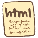 128x128px size png icon of html