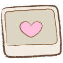 128x128px size png icon of image heart
