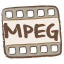 128x128px size png icon of mpeg