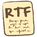 128x128px size png icon of rtf