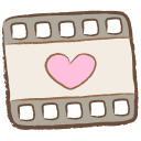 128x128px size png icon of video file