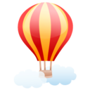 128x128px size png icon of air balloon