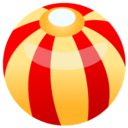 128x128px size png icon of beach ball