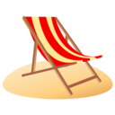 128x128px size png icon of beach chair