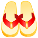 128x128px size png icon of flip flops