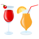 128x128px size png icon of summer cocktails