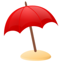 128x128px size png icon of sun umbrella