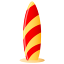 128x128px size png icon of surfboard