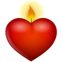 128x128px size png icon of candle