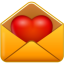 128x128px size png icon of email love