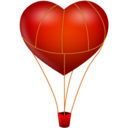 128x128px size png icon of fire ballon