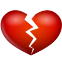 128x128px size png icon of heart broken