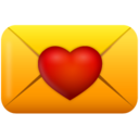 128x128px size png icon of love email