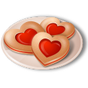 128x128px size png icon of Cookies Hearts