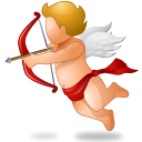 128x128px size png icon of Cupid