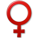 128x128px size png icon of Sex Female