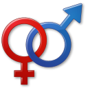 128x128px size png icon of Sex Male Female