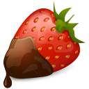 128x128px size png icon of Strawberry Chocolate