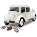 128x128px size png icon of Wedding Car Back