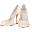 128x128px size png icon of Wedding Clothes WomenShoes