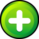 128x128px size png icon of Button Add
