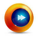 128x128px size png icon of fast forward