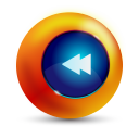 128x128px size png icon of fast rewind