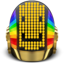 128x128px size png icon of Daft Punk Guyman Smile