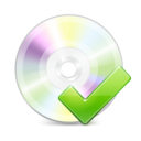 128x128px size png icon of Disk Ok
