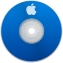 128x128px size png icon of Apple Blue