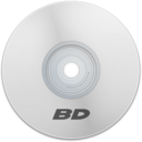 128x128px size png icon of BD White