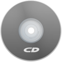 128x128px size png icon of CD Gray