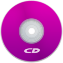 128x128px size png icon of CD Purple
