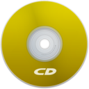 128x128px size png icon of CD Yellow