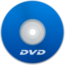 128x128px size png icon of DVD Blue