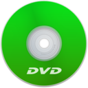 128x128px size png icon of DVD Green