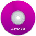128x128px size png icon of DVD Purple