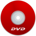 128x128px size png icon of DVD Red