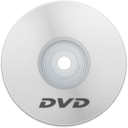 128x128px size png icon of DVD White