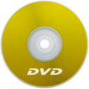 128x128px size png icon of DVD Yellow